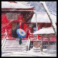 Снег над Киёмидзу-дэра в Уэно
